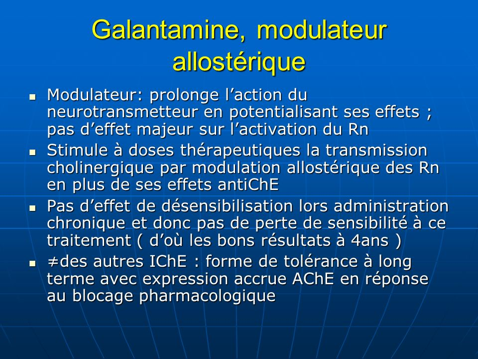 Galantamine, modulateur allostérique