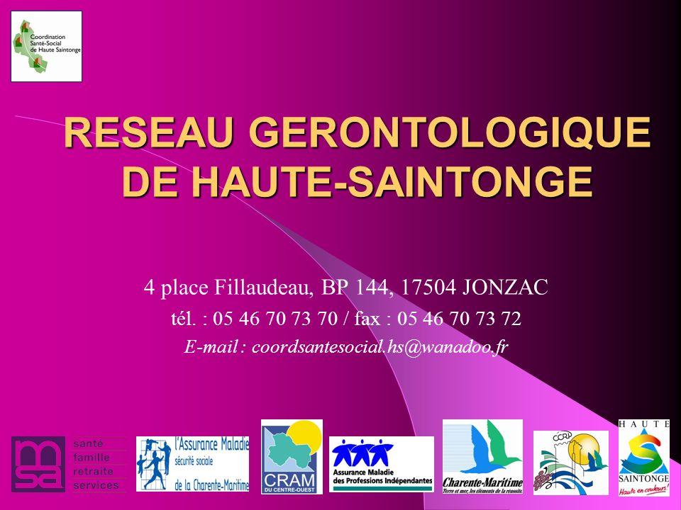 RESEAU GERONTOLOGIQUE DE HAUTE-SAINTONGE