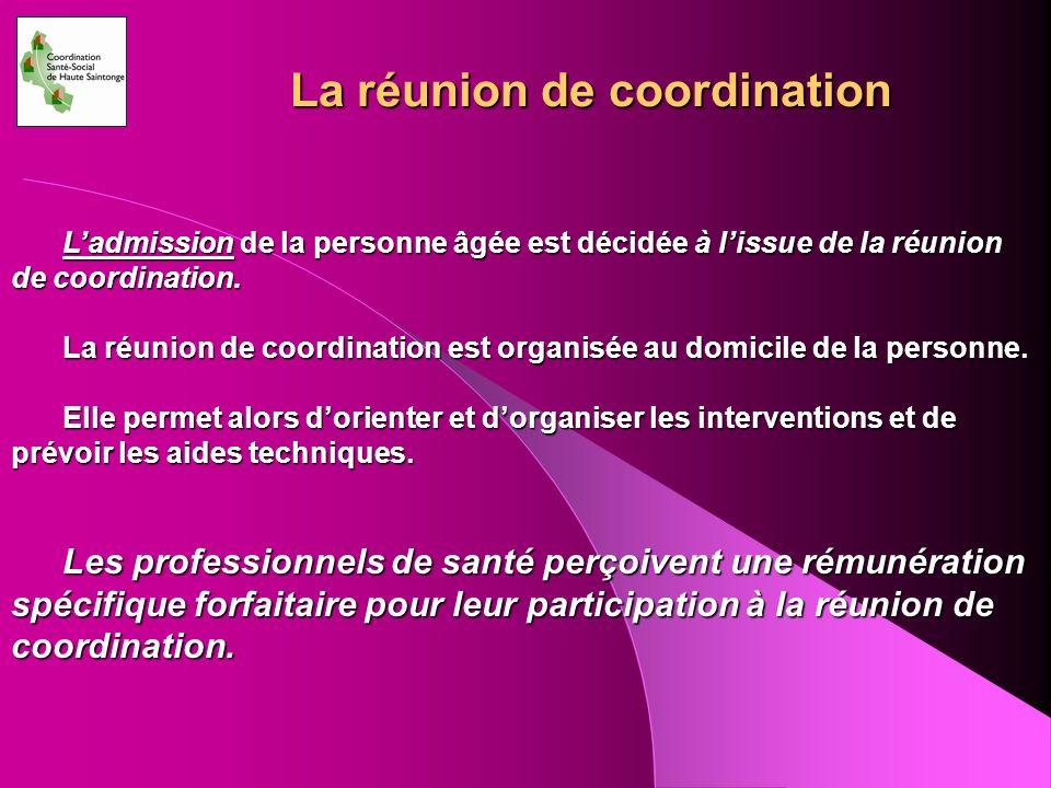 La réunion de coordination