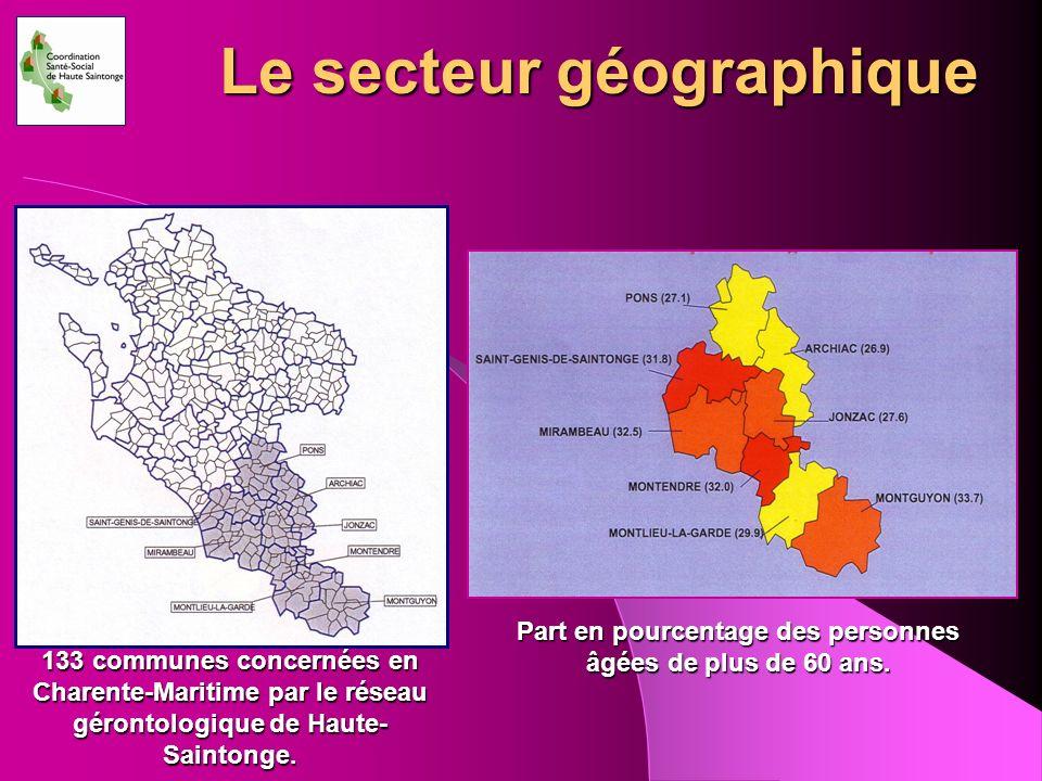 Le secteur géographique