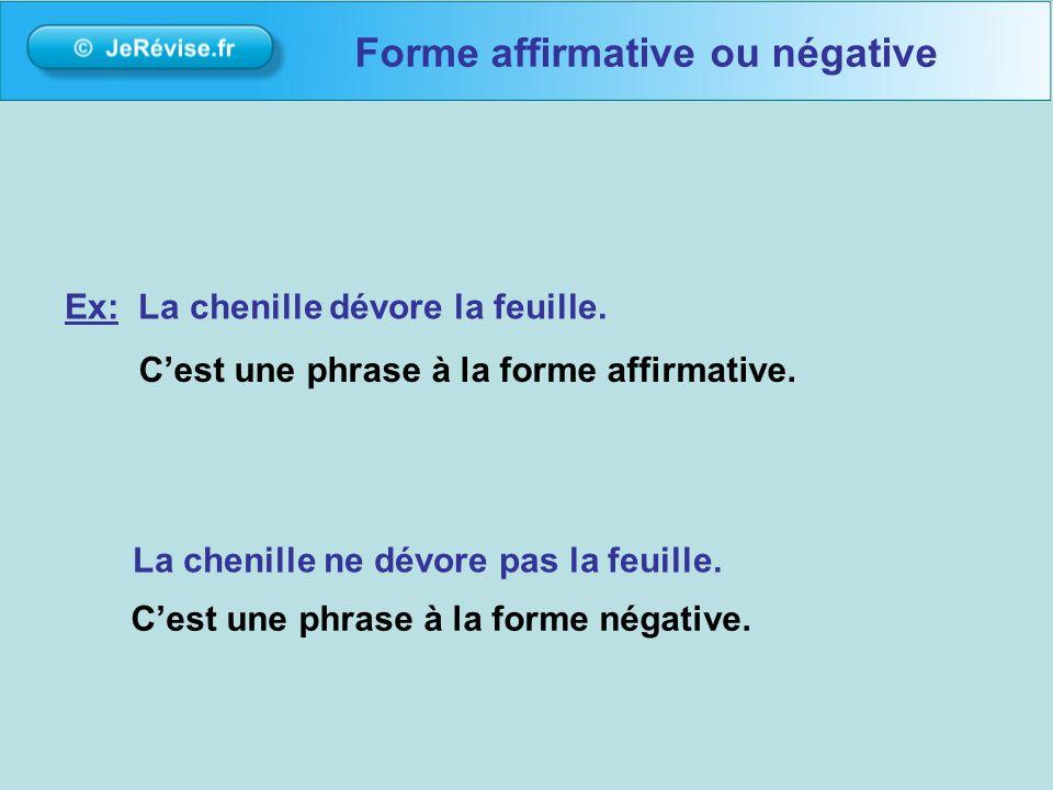 Forme affirmative ou négative