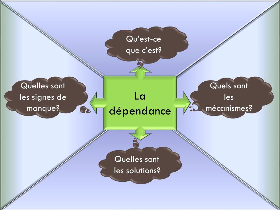 La dépendance Qu'est-ce que c'est Quelles sont les signes de manque