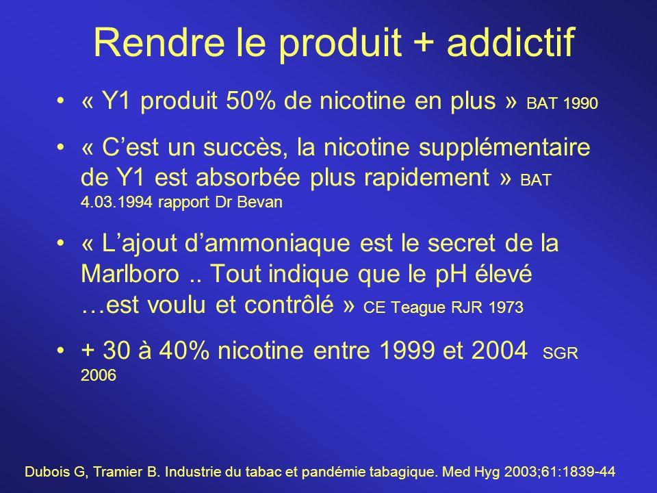Rendre le produit + addictif
