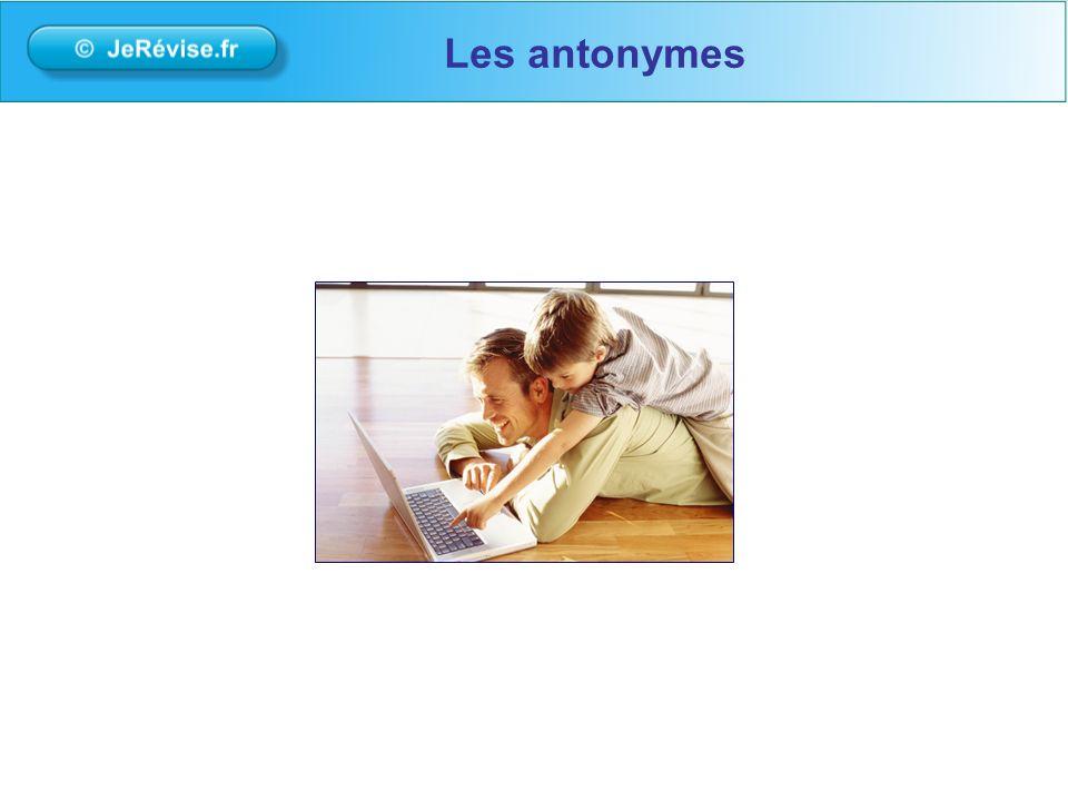 Les antonymesbonour bienvenue sur la plateforme de soutien scolaire Jerevise.fr.