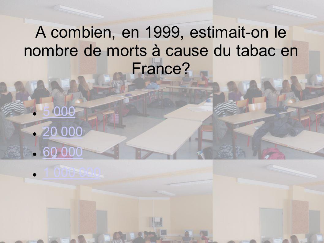 A combien, en 1999, estimait-on le nombre de morts à cause du tabac en France