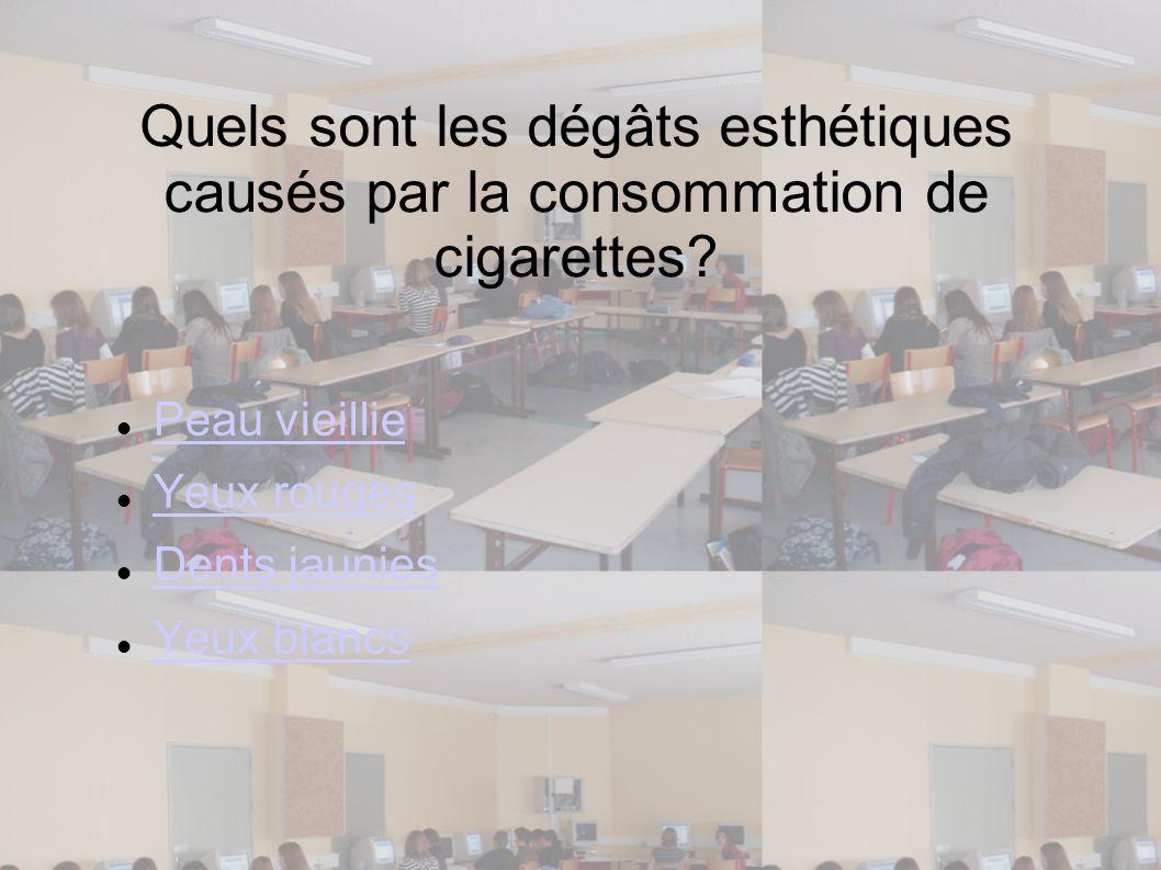 Quels sont les dégâts esthétiques causés par la consommation de cigarettes