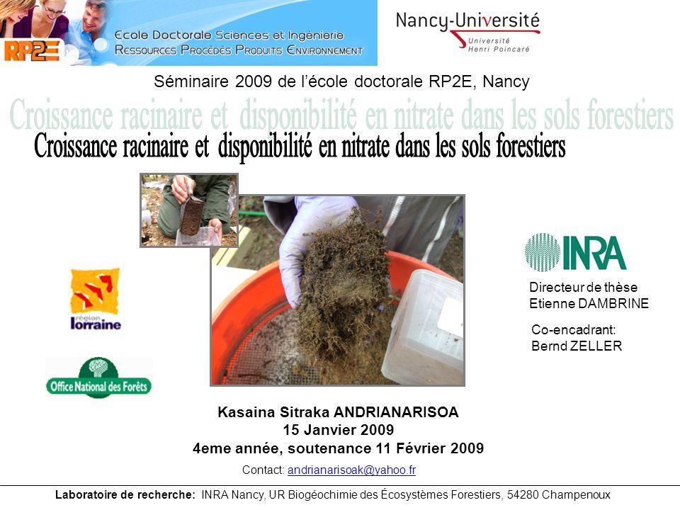Kasaina Sitraka ANDRIANARISOA 4eme année, soutenance 11 Février 2009