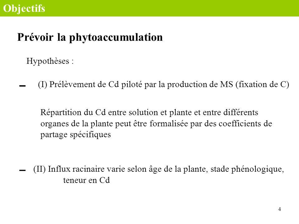 Prévoir la phytoaccumulation
