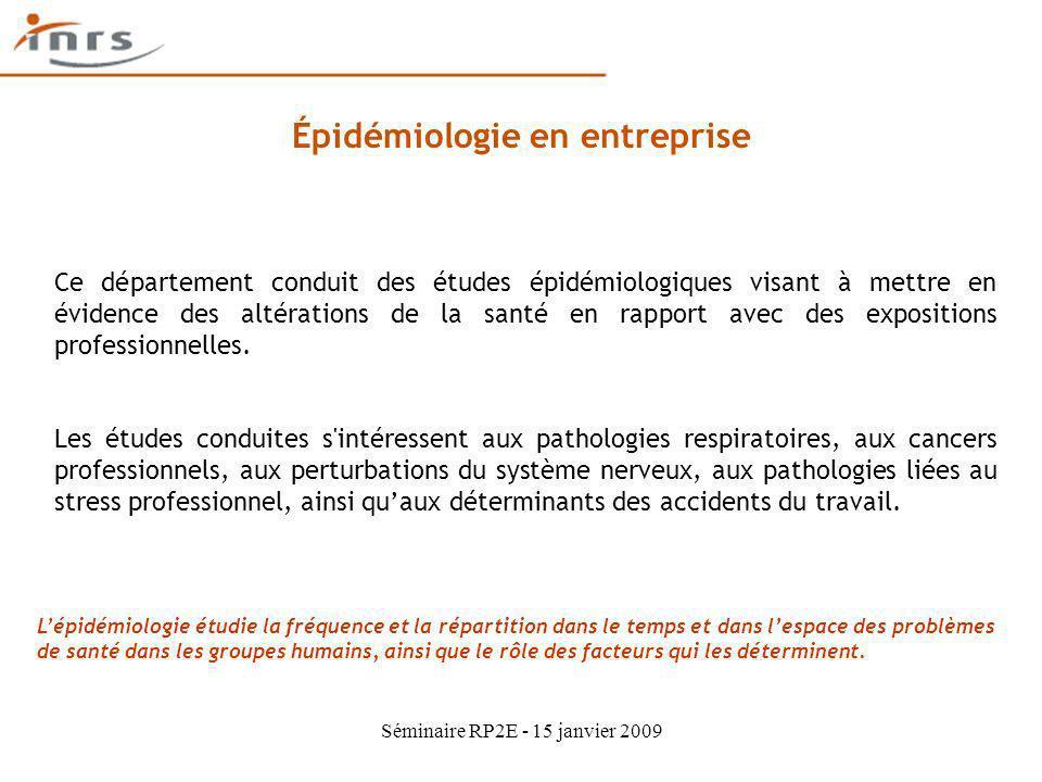 Épidémiologie en entreprise