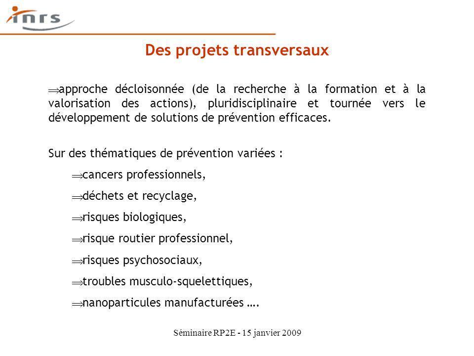 Des projets transversaux