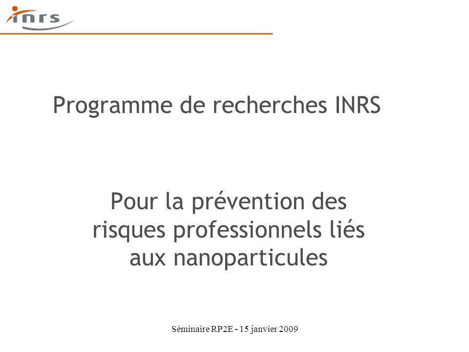 Programme de recherches INRS