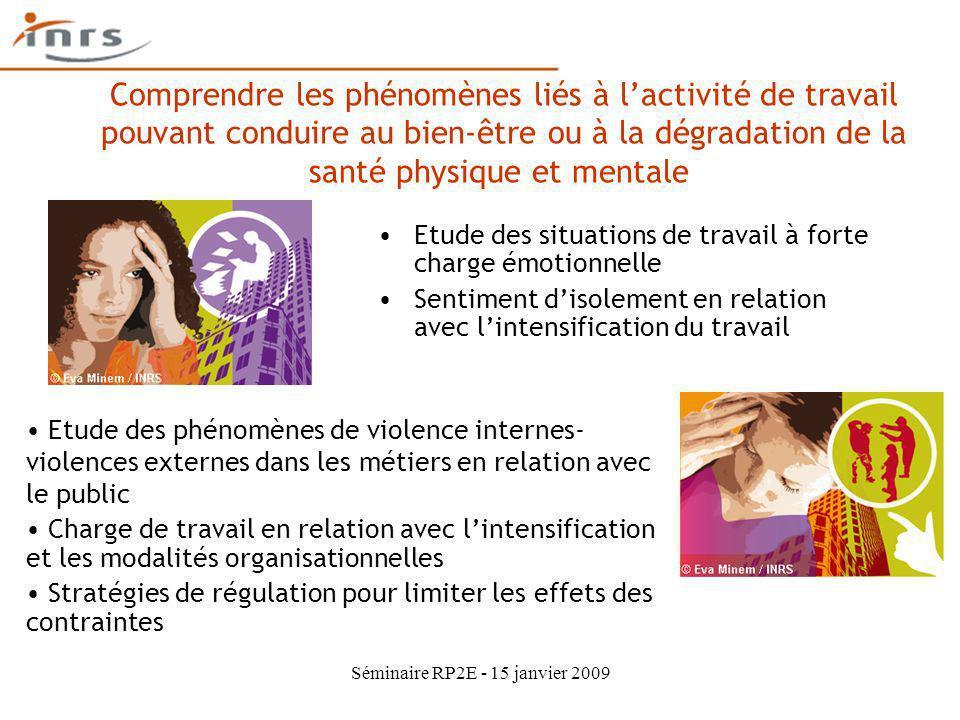 Séminaire RP2E - 15 janvier 2009