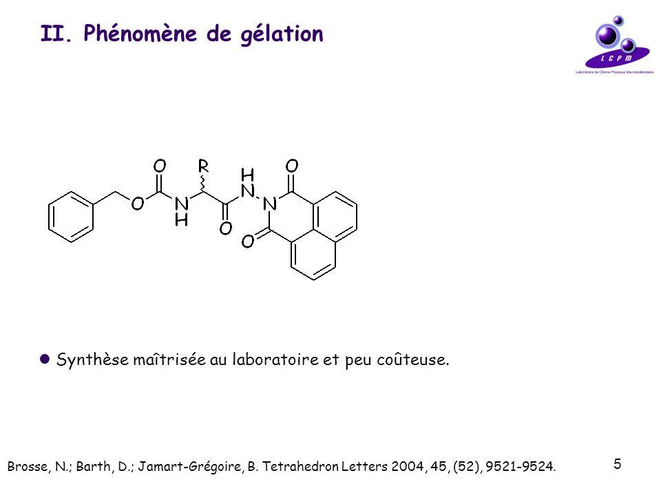 II. Phénomène de gélation