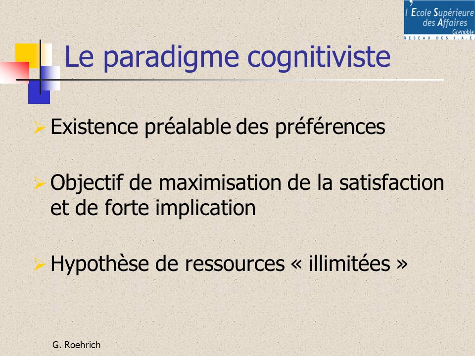 Le paradigme cognitiviste