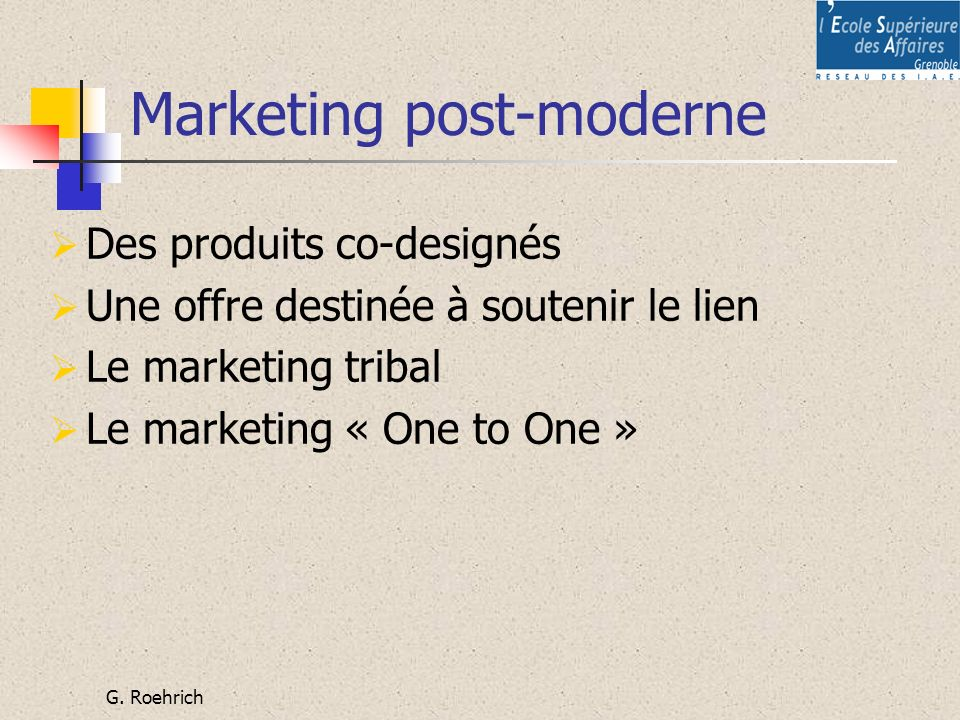 Marketing post-moderne