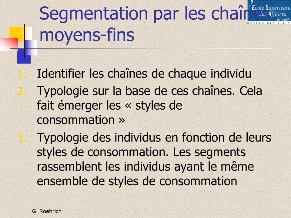 Segmentation par les chaînes moyens-fins