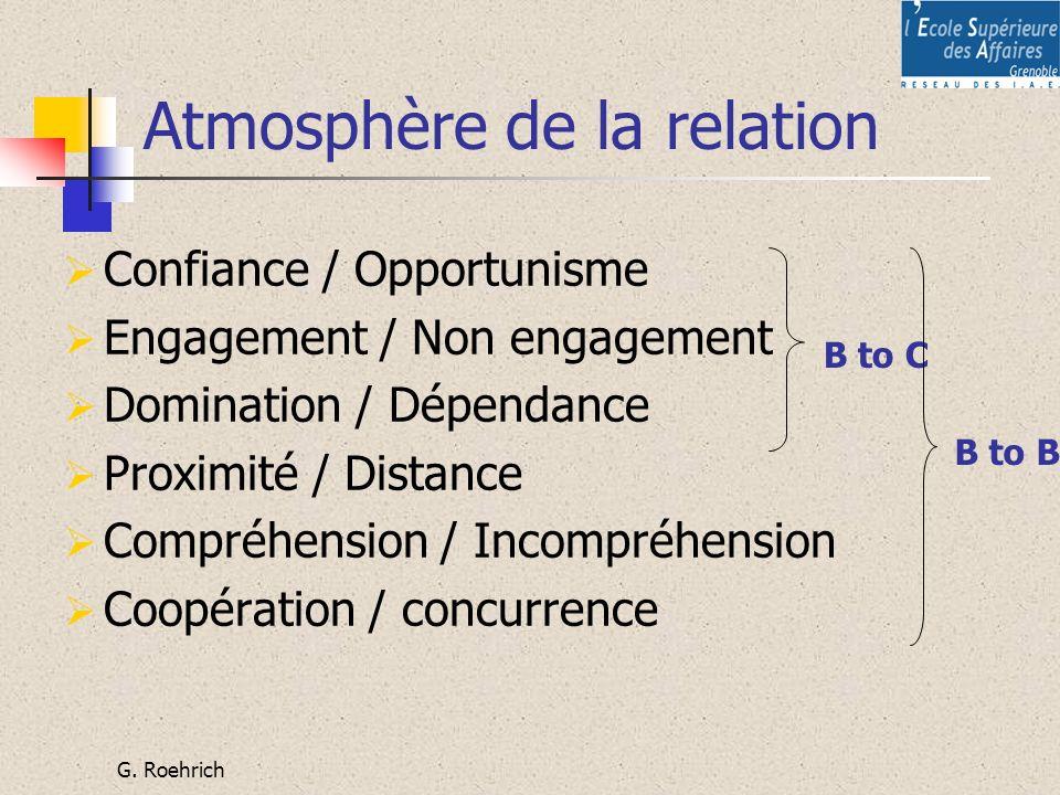 Atmosphère de la relation