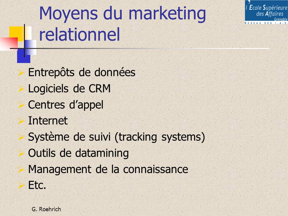 Moyens du marketing relationnel