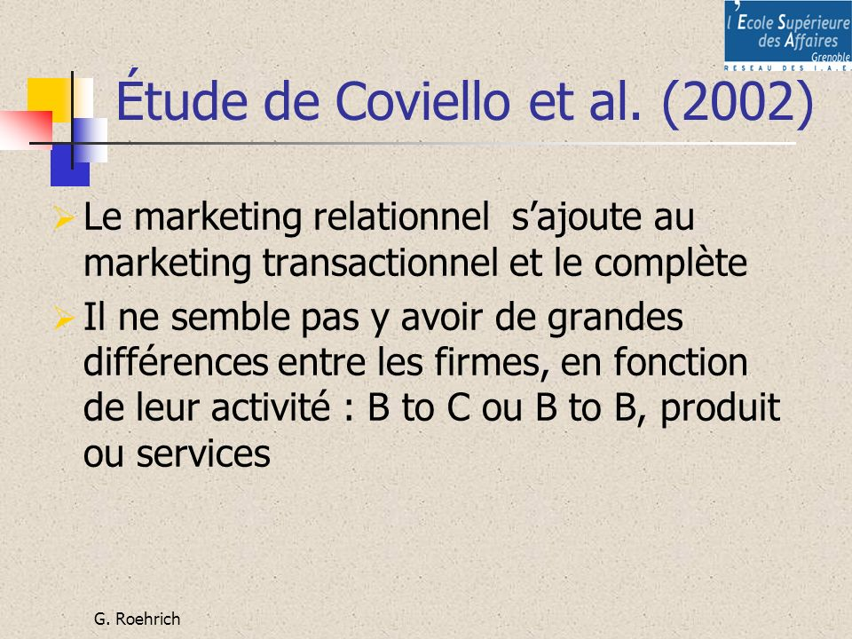 Étude de Coviello et al. (2002)