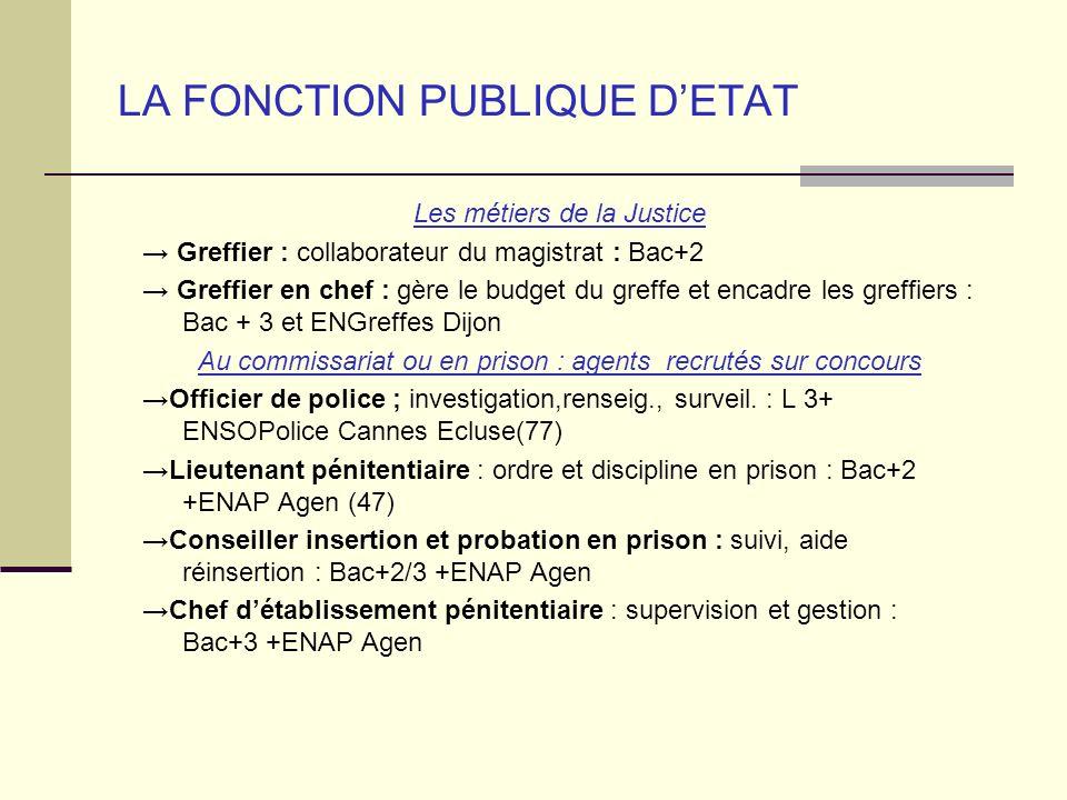 LA FONCTION PUBLIQUE D'ETAT