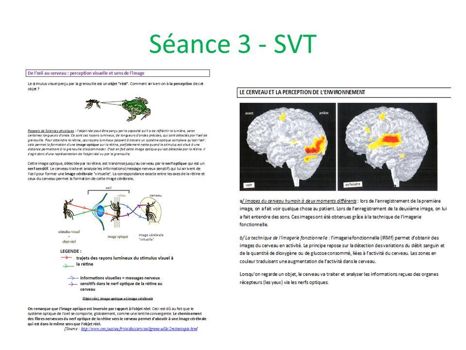Séance 3 - SVT
