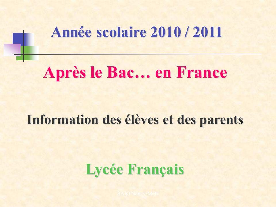 Information des élèves et des parents
