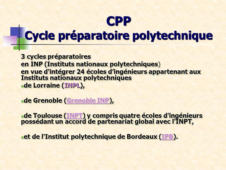 CPP Cycle préparatoire polytechnique