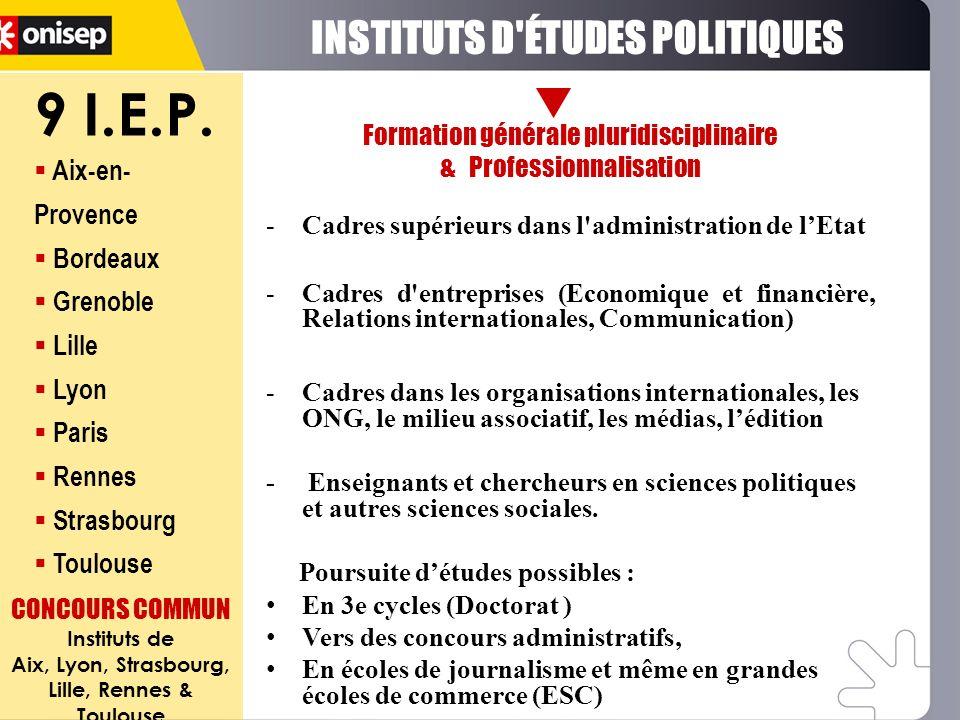 9 I.E.P. INSTITUTS D ÉTUDES POLITIQUES Aix-en-Provence Bordeaux
