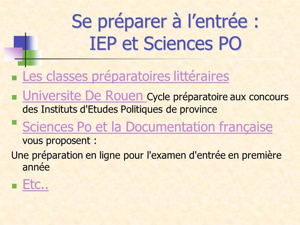 Se préparer à l'entrée : IEP et Sciences PO