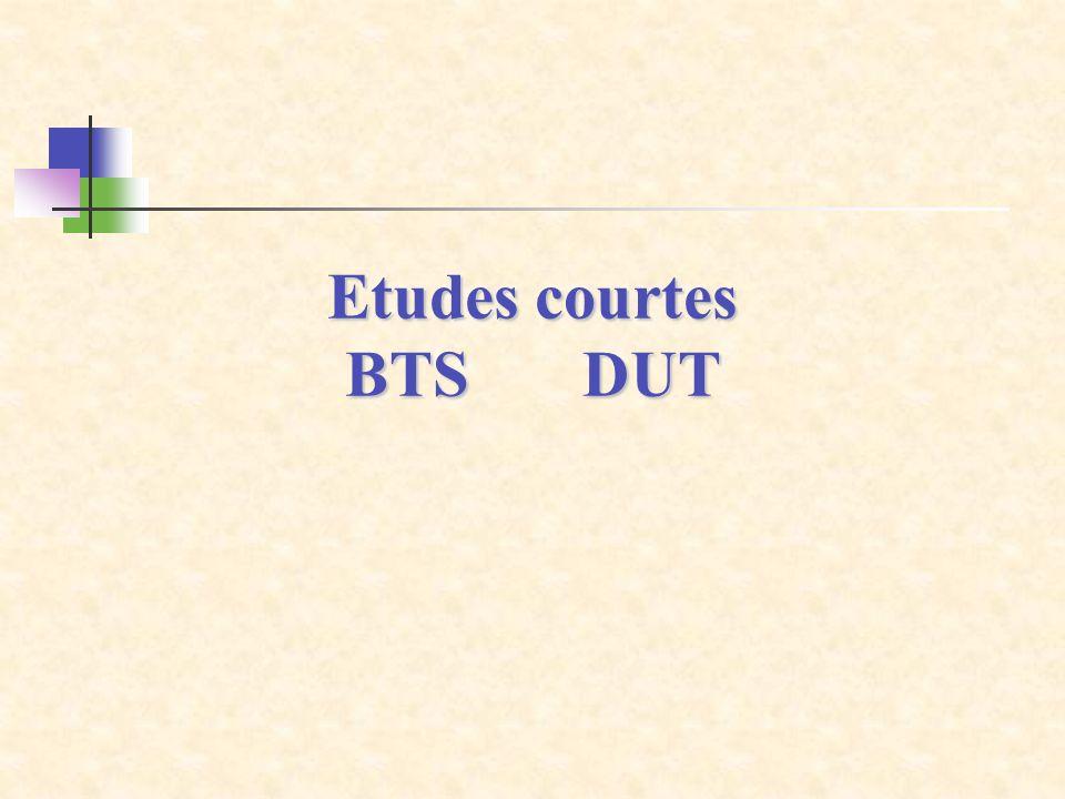 Etudes courtes BTS DUT 58