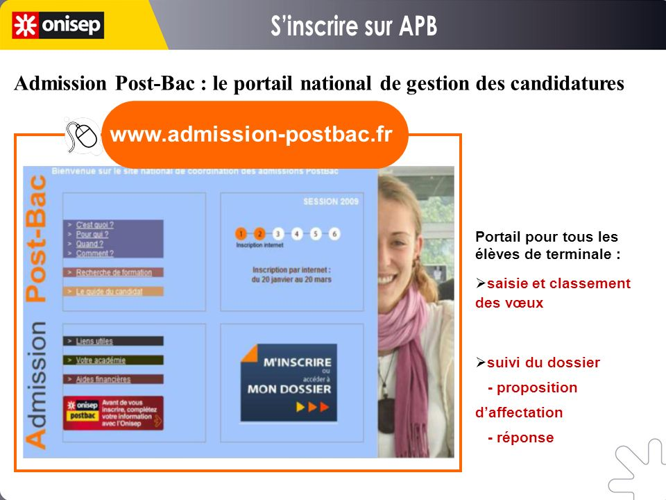 S'inscrire sur APB www.admission-postbac.fr