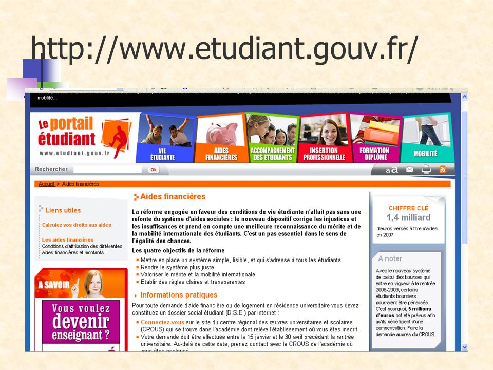 http://www.etudiant.gouv.fr/