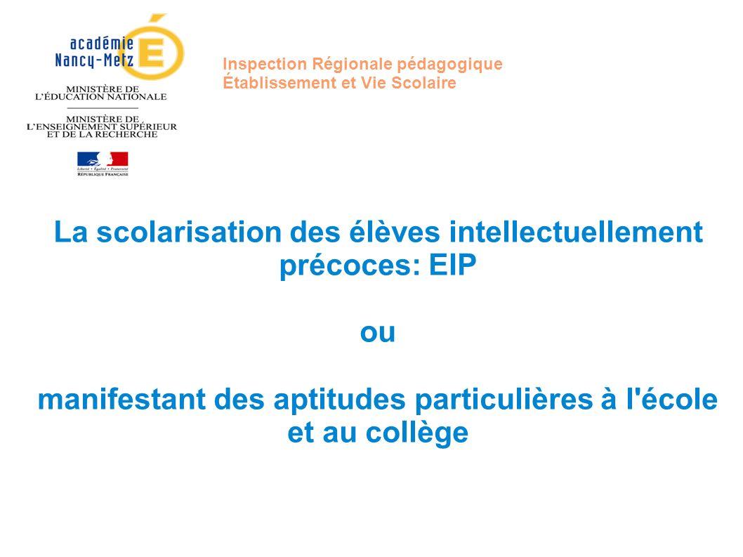 Inspection Régionale pédagogique Établissement et Vie Scolaire