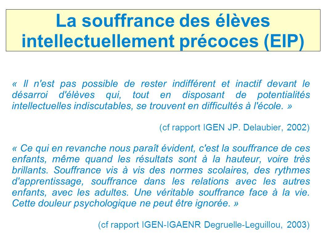 La souffrance des élèves intellectuellement précoces (EIP)
