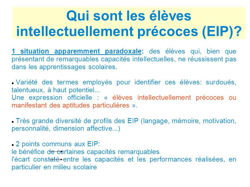 Qui sont les élèves intellectuellement précoces (EIP)