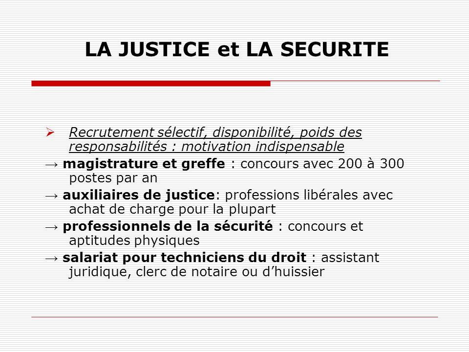 LA JUSTICE et LA SECURITE