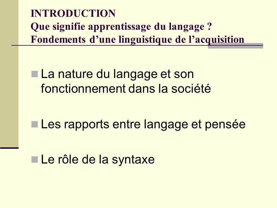 La nature du langage et son fonctionnement dans la société