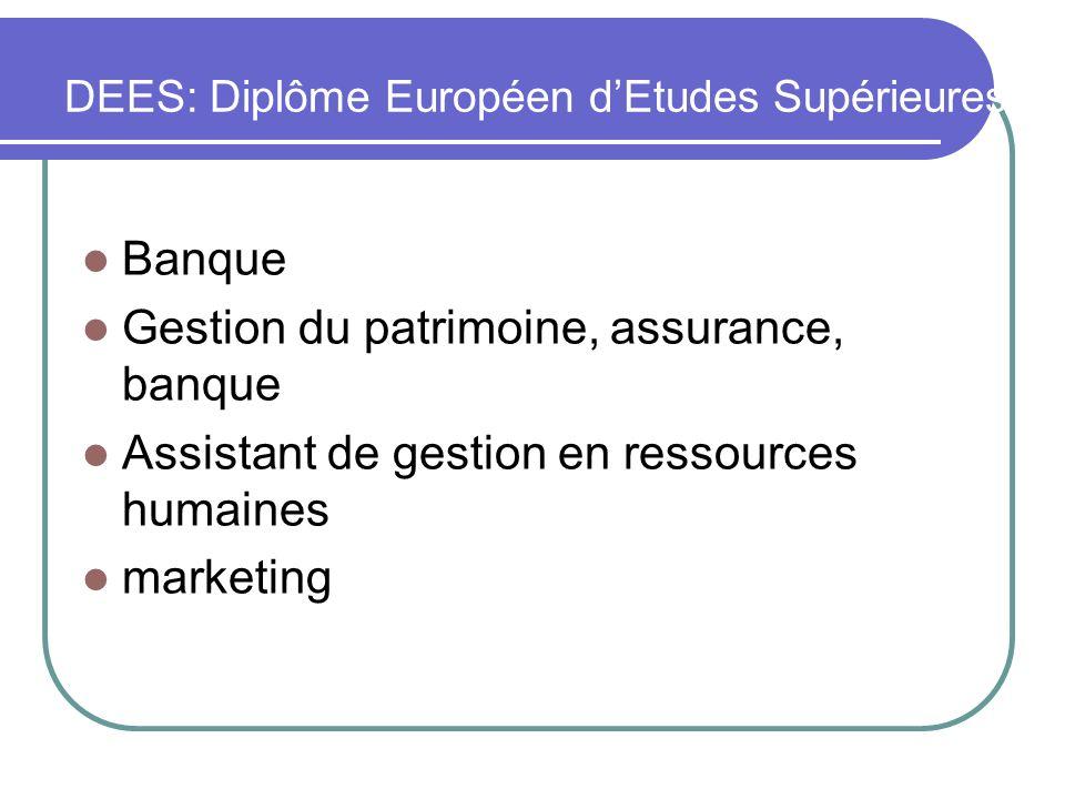 DEES: Diplôme Européen d'Etudes Supérieures