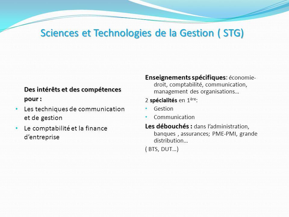 Sciences et Technologies de la Gestion ( STG)