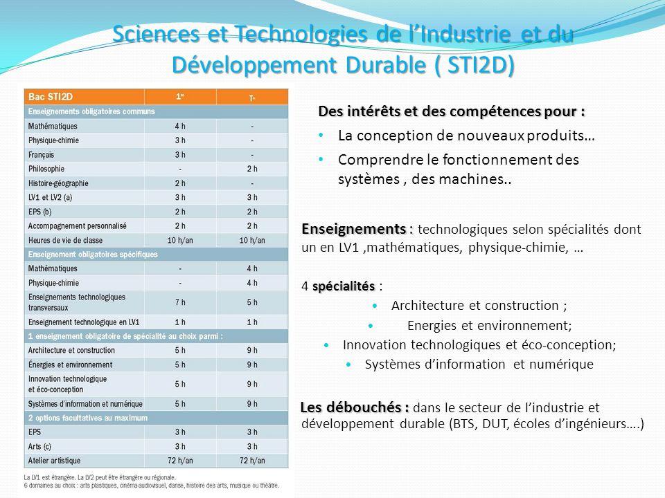 Sciences et Technologies de l'Industrie et du Développement Durable ( STI2D)