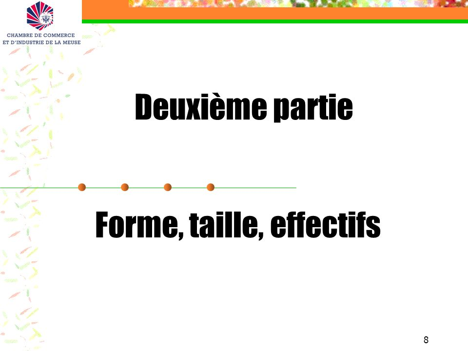 Forme, taille, effectifs