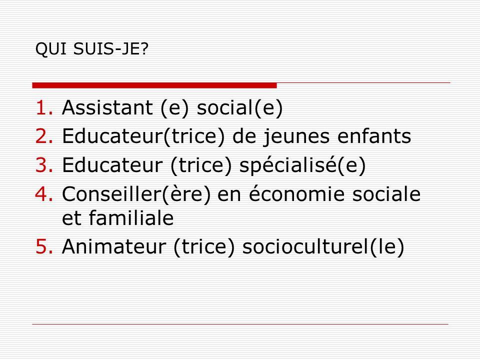 Assistant (e) social(e) Educateur(trice) de jeunes enfants