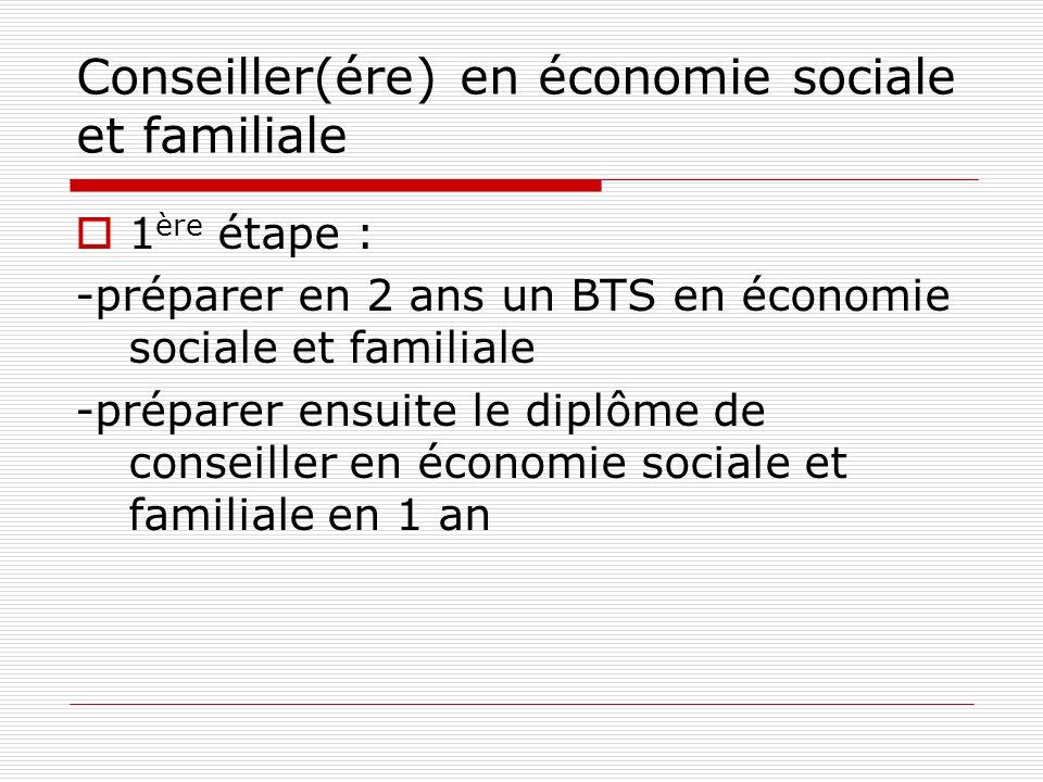 Conseiller(ére) en économie sociale et familiale