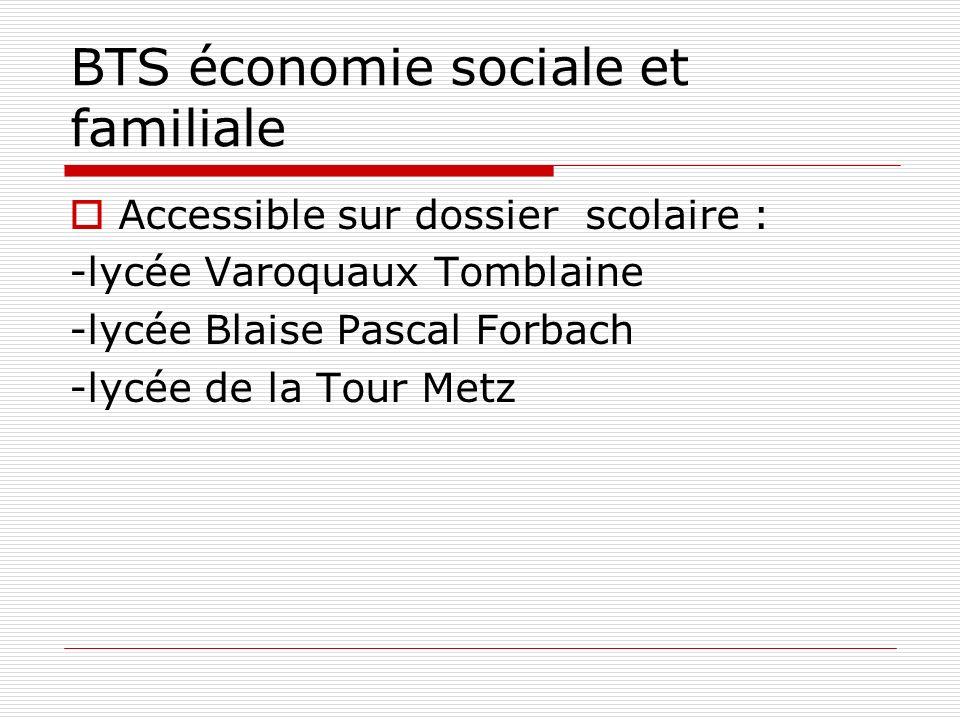 BTS économie sociale et familiale