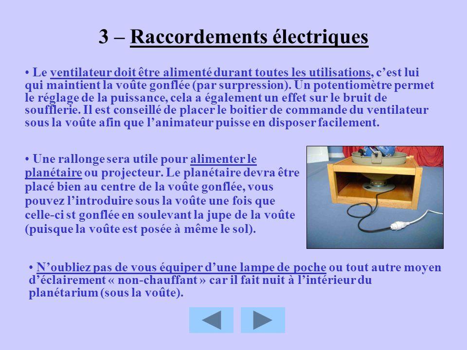 3 – Raccordements électriques