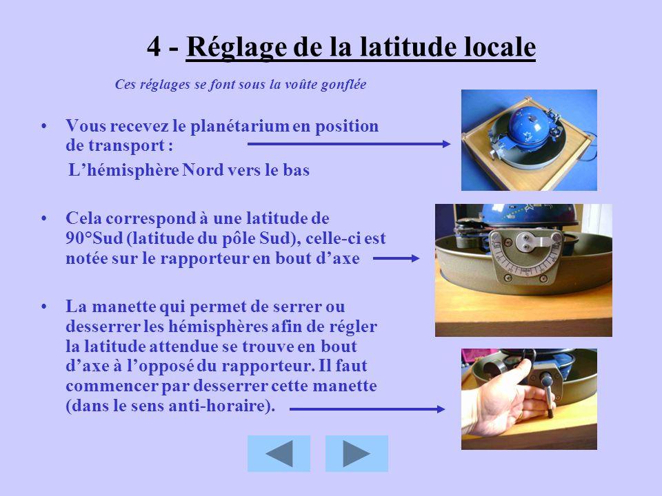4 - Réglage de la latitude locale