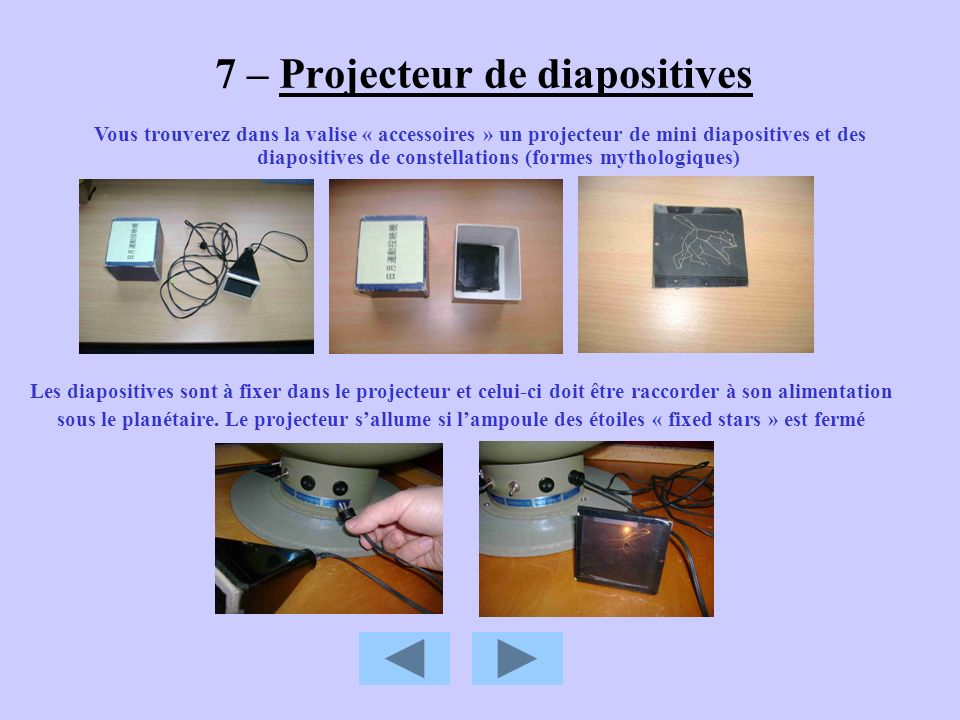 7 – Projecteur de diapositives