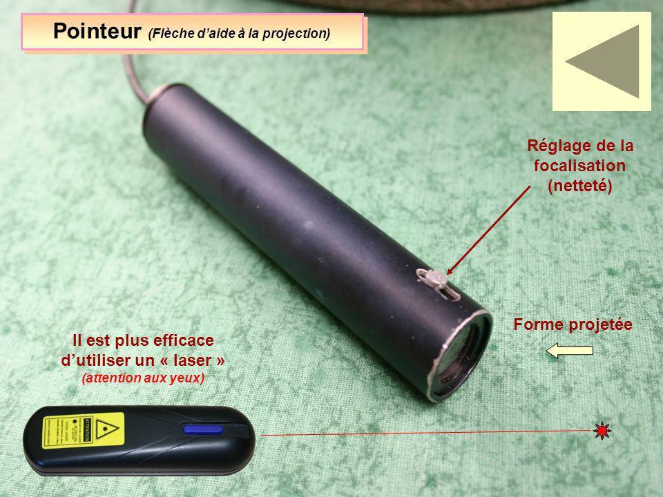 Pointeur (Flèche d'aide à la projection)