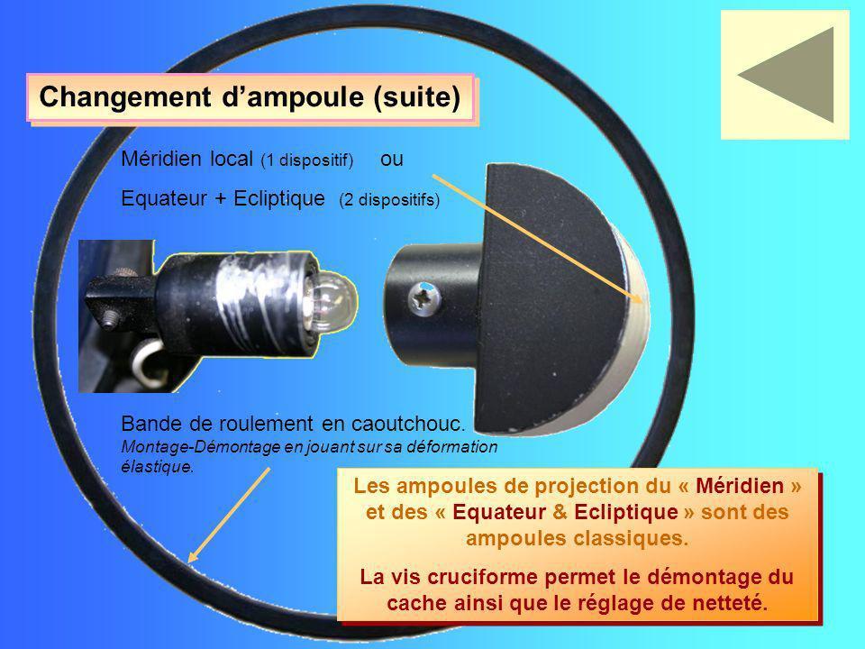 Changement d'ampoule (suite)