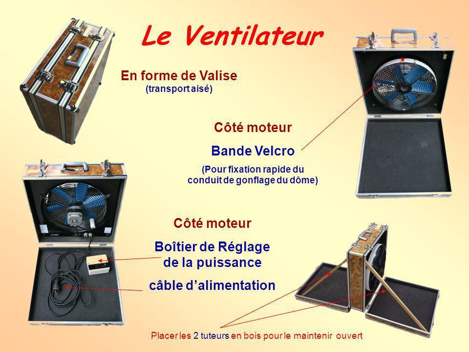 Le Ventilateur En forme de Valise (transport aisé) Côté moteur
